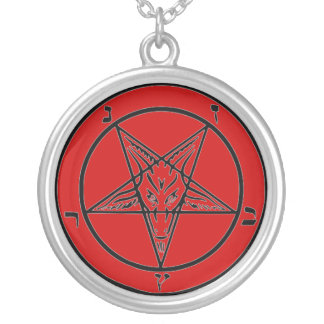 Baphomet Red Sterling Silver Necklace