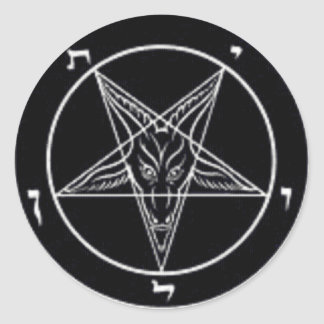 Baphomet Round Sticker Set