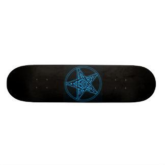 Baphomet Sigil Blue Skateboard