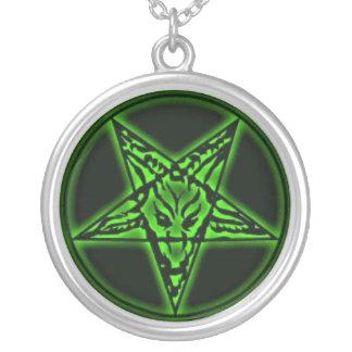 Baphomet Sigil Green Necklace