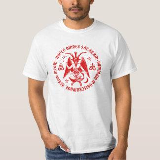 Baphomet with Satanic Crosses & Pentagrams T-Shirt