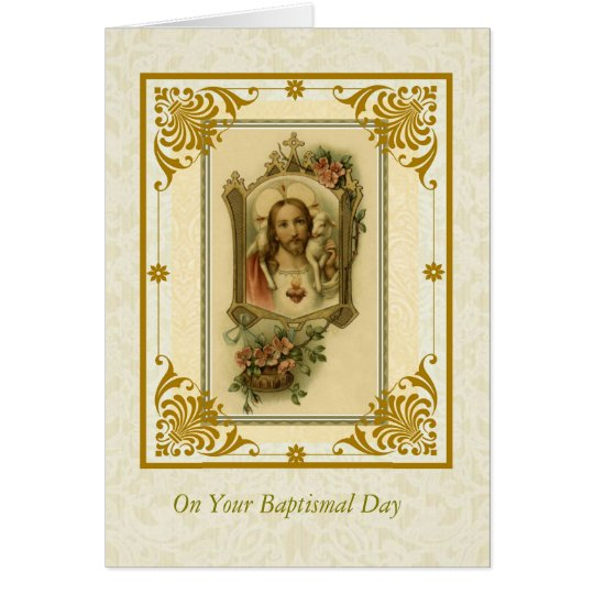 BAPTISM ADULT Sacred Heart of Jesus with lamb