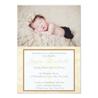 Baptism Blessings Christening Invitation - Pink