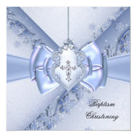 Baptism Blue Cross Boy damask christening