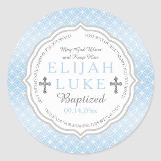 Baptism | Boy Eternity Rings Classic Round Sticker