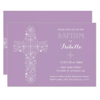 Baptism, Christening Invitation - Baby Girl