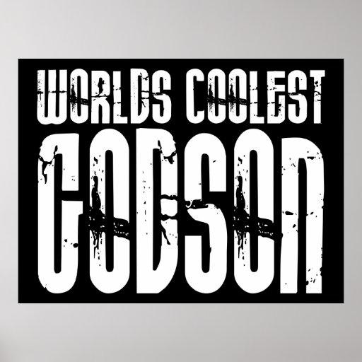 Baptism Christening Parties  Worlds Coolest Godson Poster