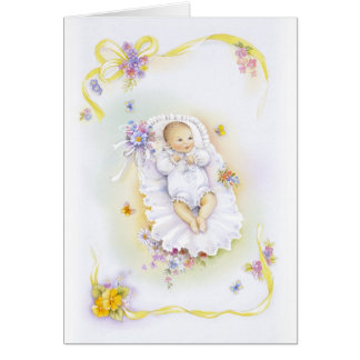 Baptism girl card