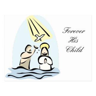 Baptism Invitation Postcard