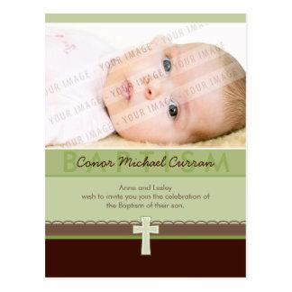 BAPTISM INVITATION :: pure 6 Postcard