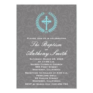 Baptism Invitation with Cross