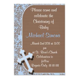 Baptism  Invitations For Boys