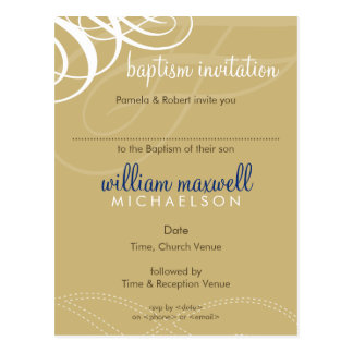 BAPTISM INVITE :: designer vogue 7 Postcard
