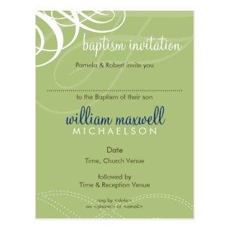 BAPTISM INVITE :: designer vogue 8 Postcard
