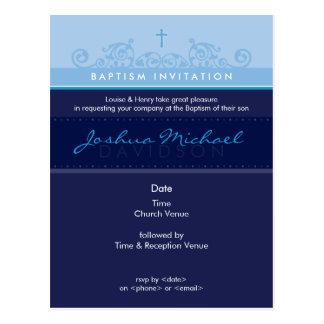 BAPTISM INVITE :: elegant 6 Postcard