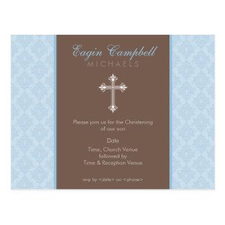 BAPTISM INVITE :: oh so beautiful 2 Postcard