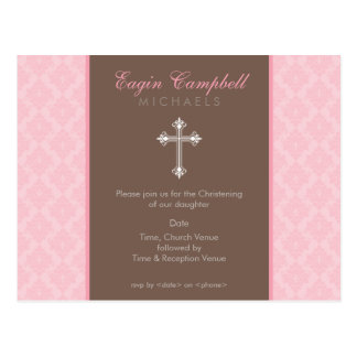 BAPTISM INVITE :: oh so beautiful 5 Postcard