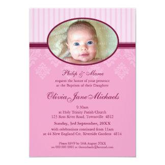 "BAPTISM INVITES :: blessed 3P 5"" X 7"" Invitation Card"