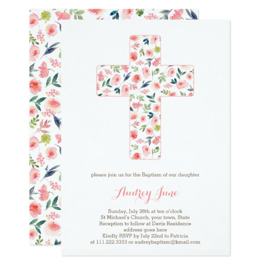 Baptism invites, Girl Christening invitations
