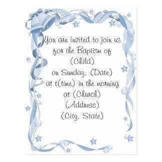 Baptism Invitiation Postcard