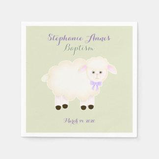 Baptism Lamb Paper Napkin