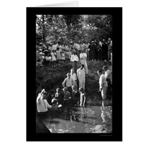 Baptism Near Mineola, TX 1935 Greeting Cards