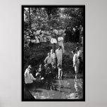 Baptism Near Mineola, TX 1935 Poster