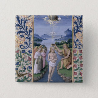 Baptism of Christ 15 Cm Square Badge