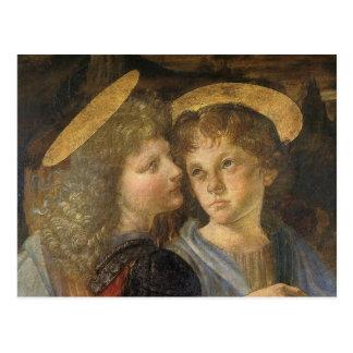 Baptism of Christ angel detail Leonardo da Vinci Postcard