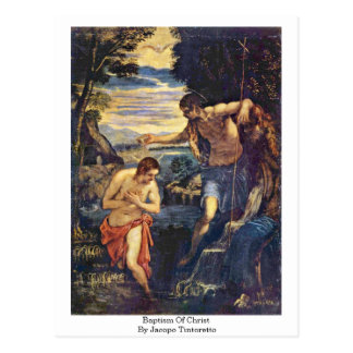 Baptism Of Christ By Jacopo Tintoretto Postcard