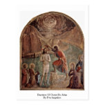 Baptism Of Christ By John By Fra Angelico Postcards