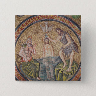 Baptism of Christ by John the Baptist 15 Cm Square Badge
