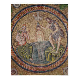Baptism of Christ by John the Baptist Poster