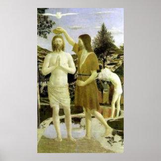 Baptism of Christ by Piero della Francesca (1449) Poster