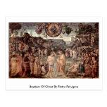 Baptism Of Christ By Pietro Perugino Postcard