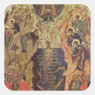 Baptism of Christ, from Sandzak Square Sticker