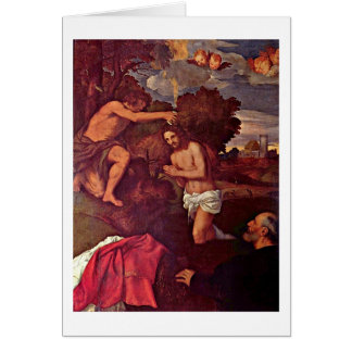 Baptism Of Christ Giovanni Ram By Titian Greeting Card
