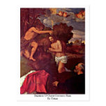 Baptism Of Christ Giovanni Ram By Titian Post Card