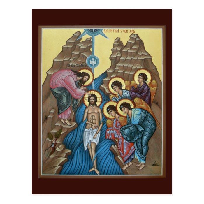 Baptism of Christ Prayer Card Postcard
