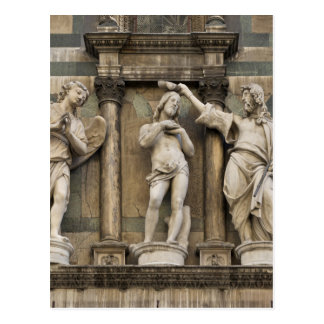 Baptism of christ - statue from Florence Postcard