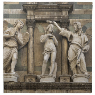 Baptism of christ - statue from Florence Printed Napkins