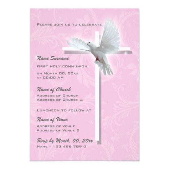 Baptism religious communion confirmation girls card