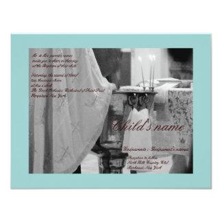 Baptismal Blue Personalized Invitations
