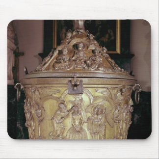 Baptismal font showing mouse pad