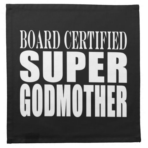 Baptisms Birthdays Christmas : Super Godmother Napkins