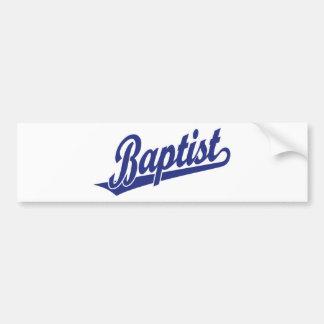 Baptist Script Logo Bumper Sticker