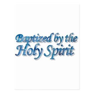 Baptized by the Holy Spirit Bleu 3D Cartes Postales