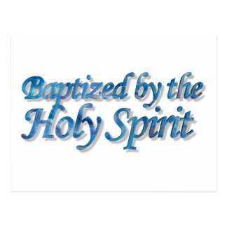 Baptized by the Holy Spirit Blue 3D Postcard