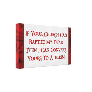 Baptizing Dead People Gallery Wrap Canvas