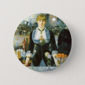 Bar at the Folies Bergere by Manet, Vintage Art 6 Cm Round Badge